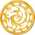 아사달 금 로고